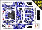 Blue Stickerbomb themed vinyl SKIN Kit To Fit Traxxas Slash 4x4 Short Course Truck